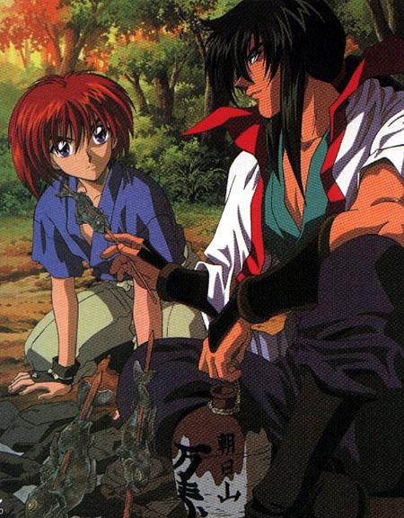 [ Kenshin and his teacher, Seijuuro Hiko ]
